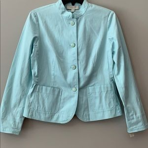 TALBOTS Cotton Jacket in Baby Blue NWT Size 4P